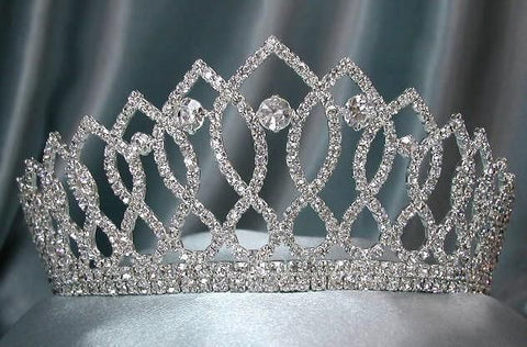 Rhinestone Bridal Queen Princess Miss Beauty Queen Crown Tiara - CrownDesigners