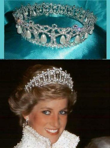 Cambridge Lover's Knot tiara Silver  Rhinestone full Crown