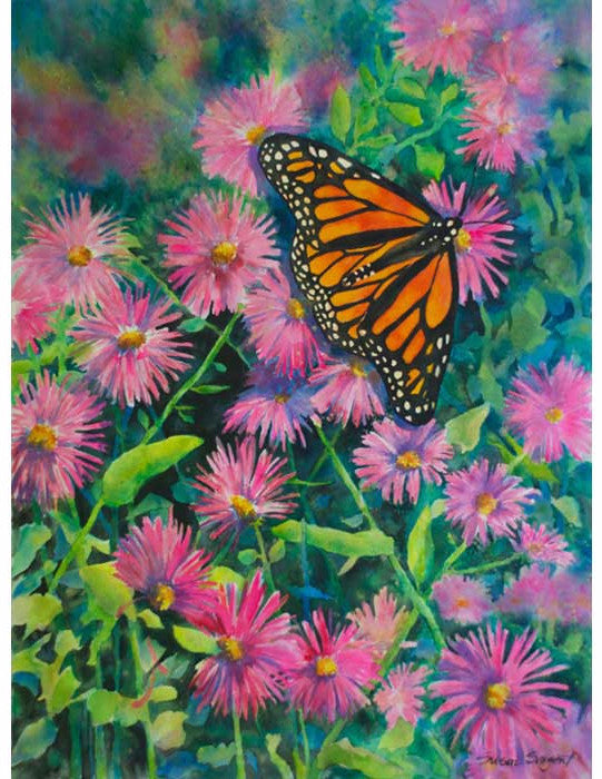 Monarch & Asters