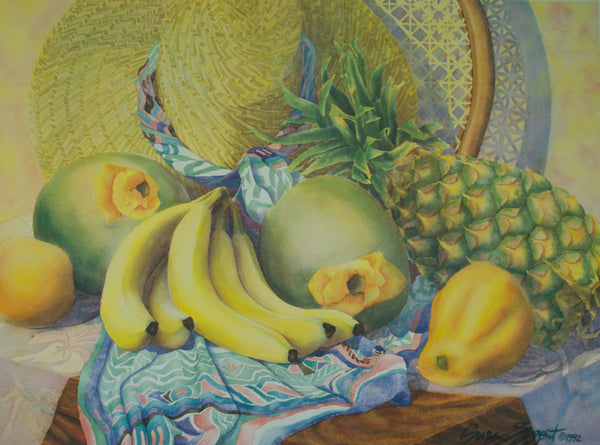 Tropical Still Life - Lithograph