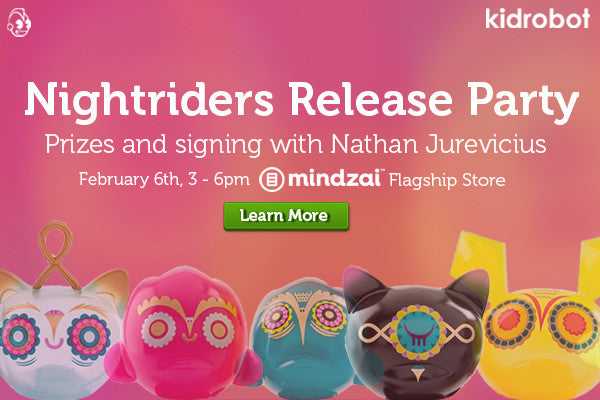 Kidrobot Nightriders Signing and Release Party with Nathan Jurevicius at Mindzai