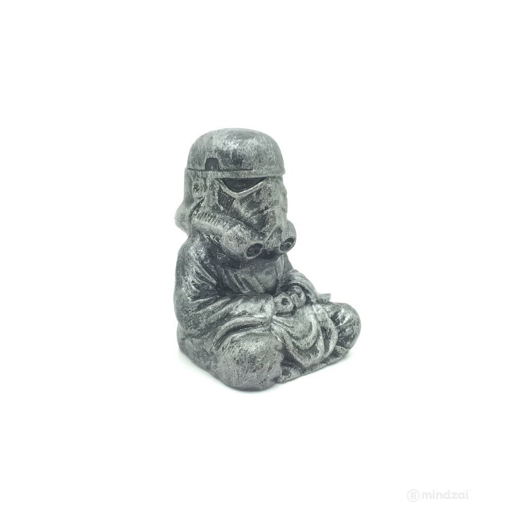 "Silver Storm Trooper Buddha Bronze 4"" Figure by Modulicious"
