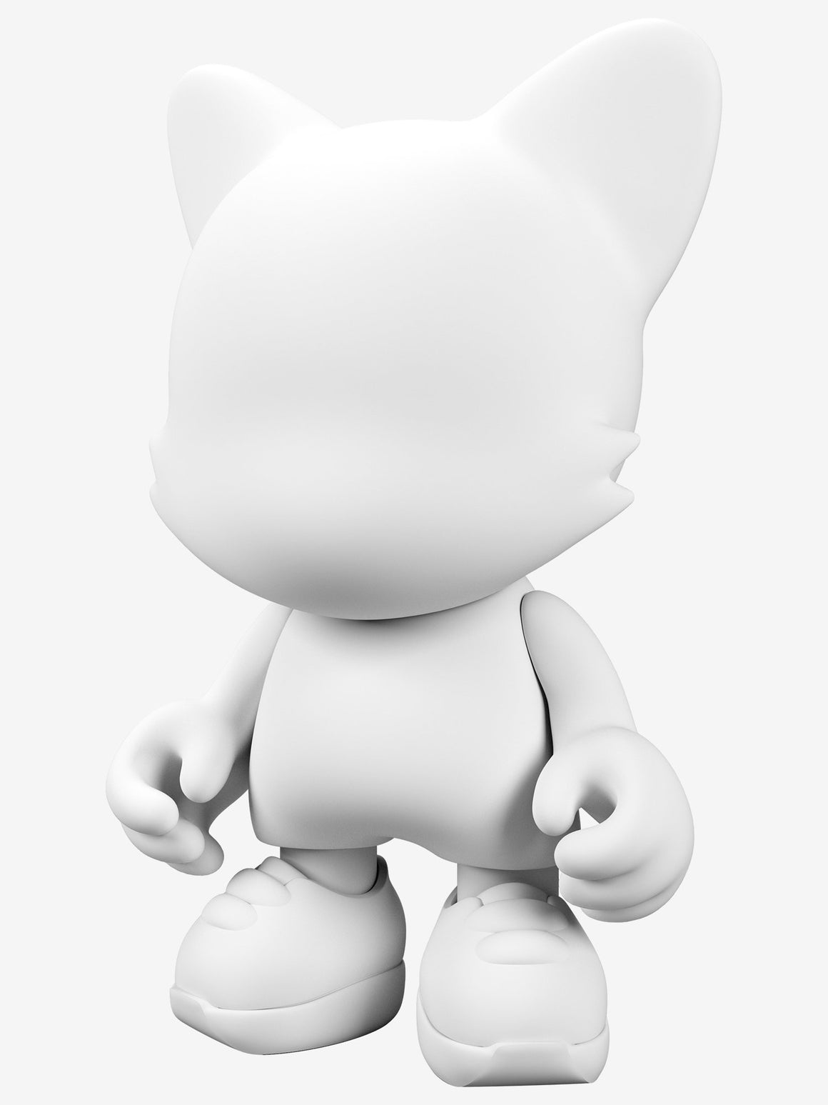 White DIY Blank 15-INCH UberJanky Toy by Superplastic