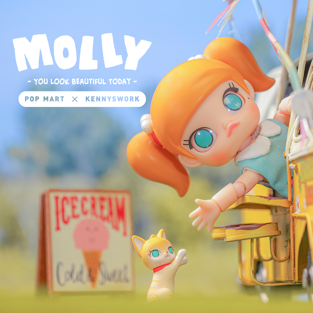 *Pre-order* Molly You Look Good Today BJD Art Toy Figure by Kennyswork x POP MART