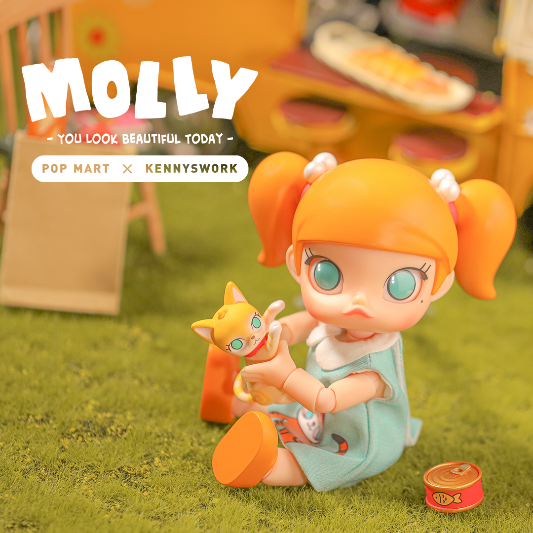 Molly You Look Good Today BJD Art Toy Figure by Kennyswork x POP MART