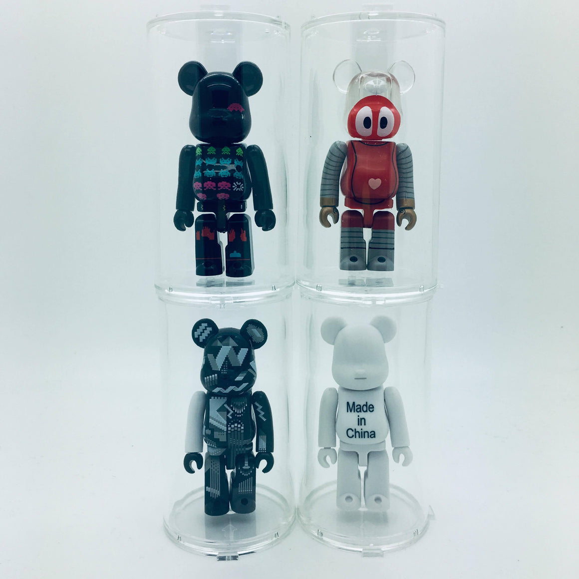 Clear Round Display Case for Bearbrick 100% - Single Case