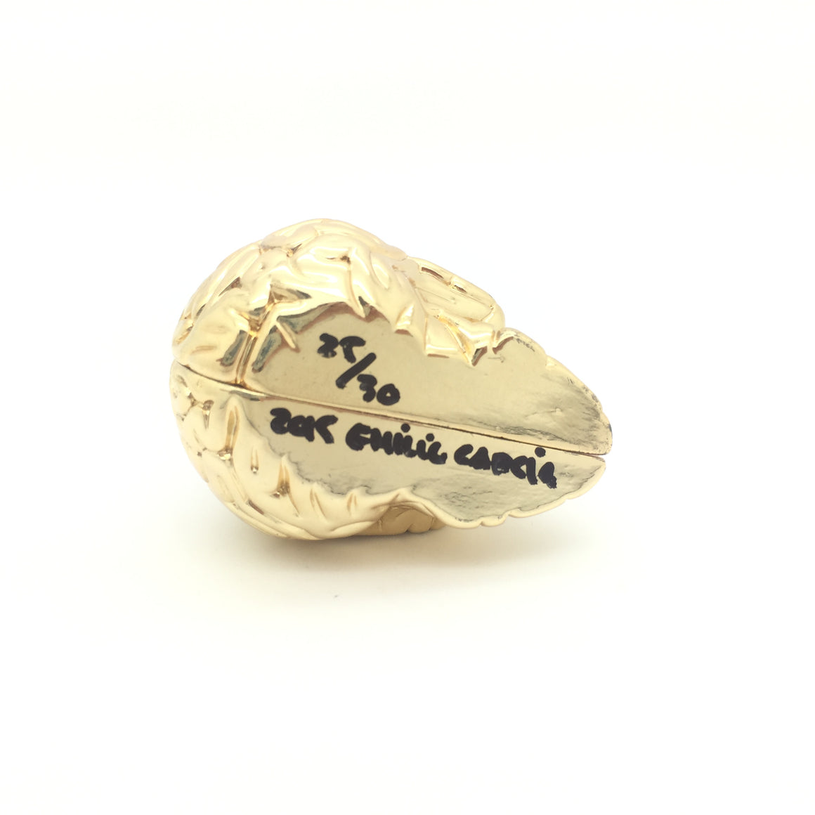 Mini Skull Brain 24k Gold Limited Numbered Edition by Emilio Garcia