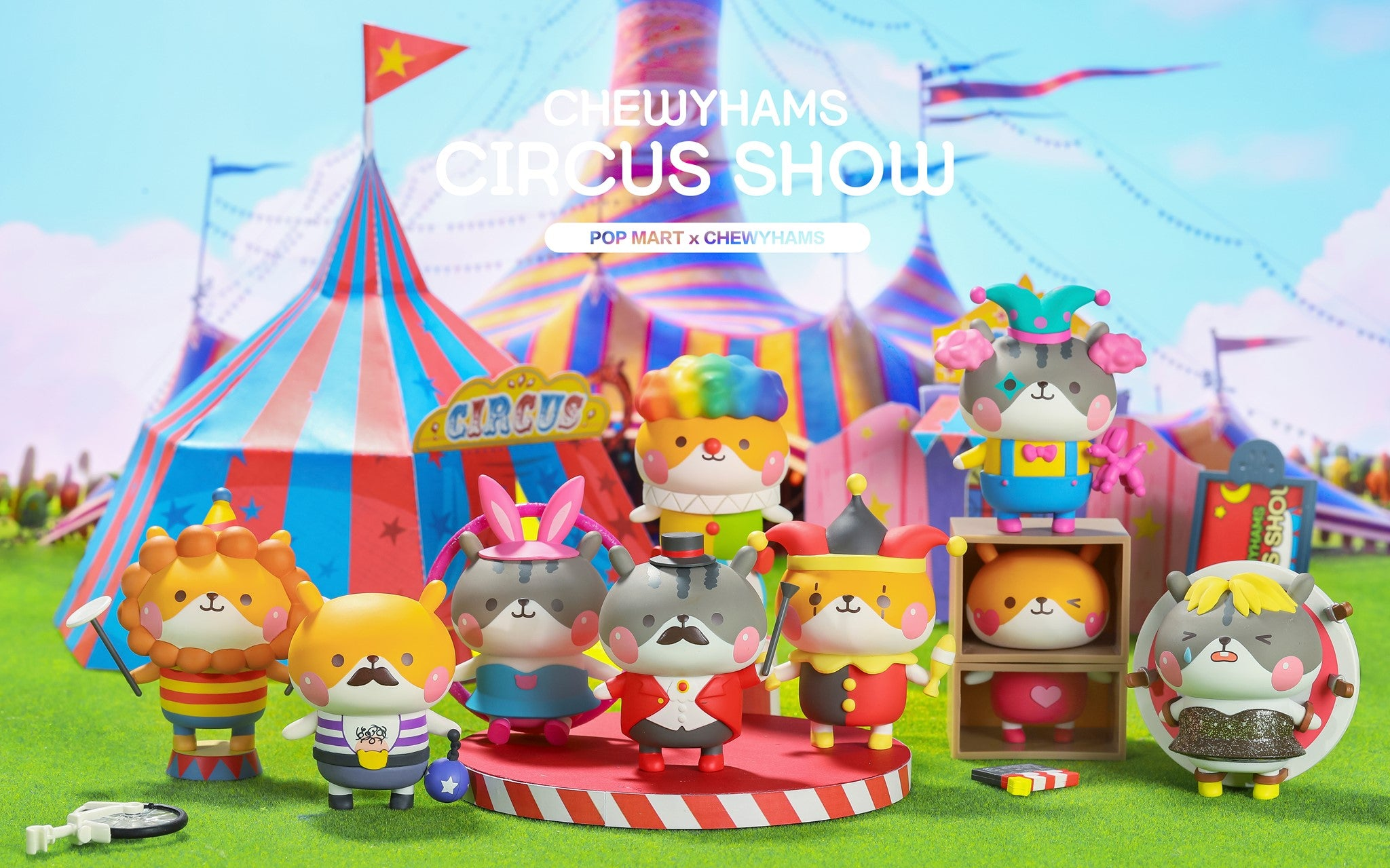 Chewy Hams Circus Blind Box Series by Funi x POP MART