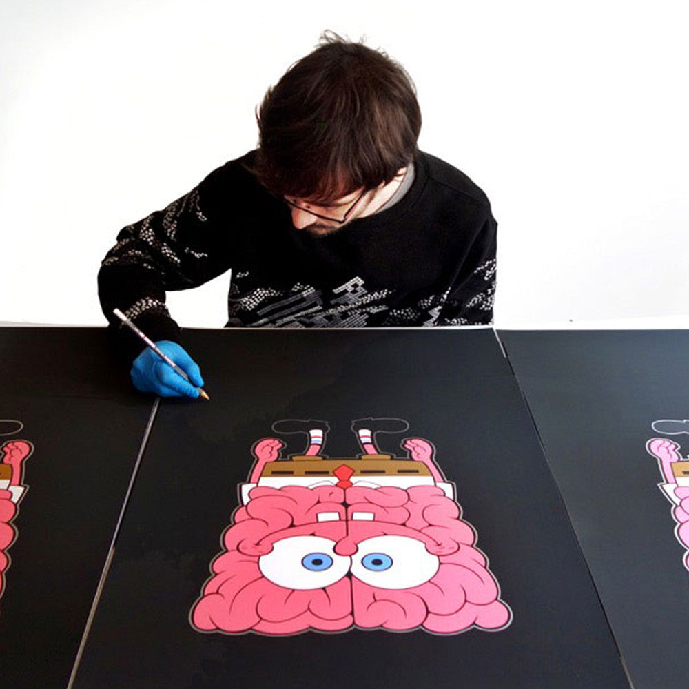 Emilio Garcia x JPS Sponge Bob Brain Limited Edition of 50 Art Print