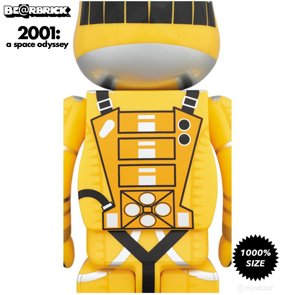 2001: A Space Odyssey Yellow Spacesuit 1000% Bearbrick - Pre-Order