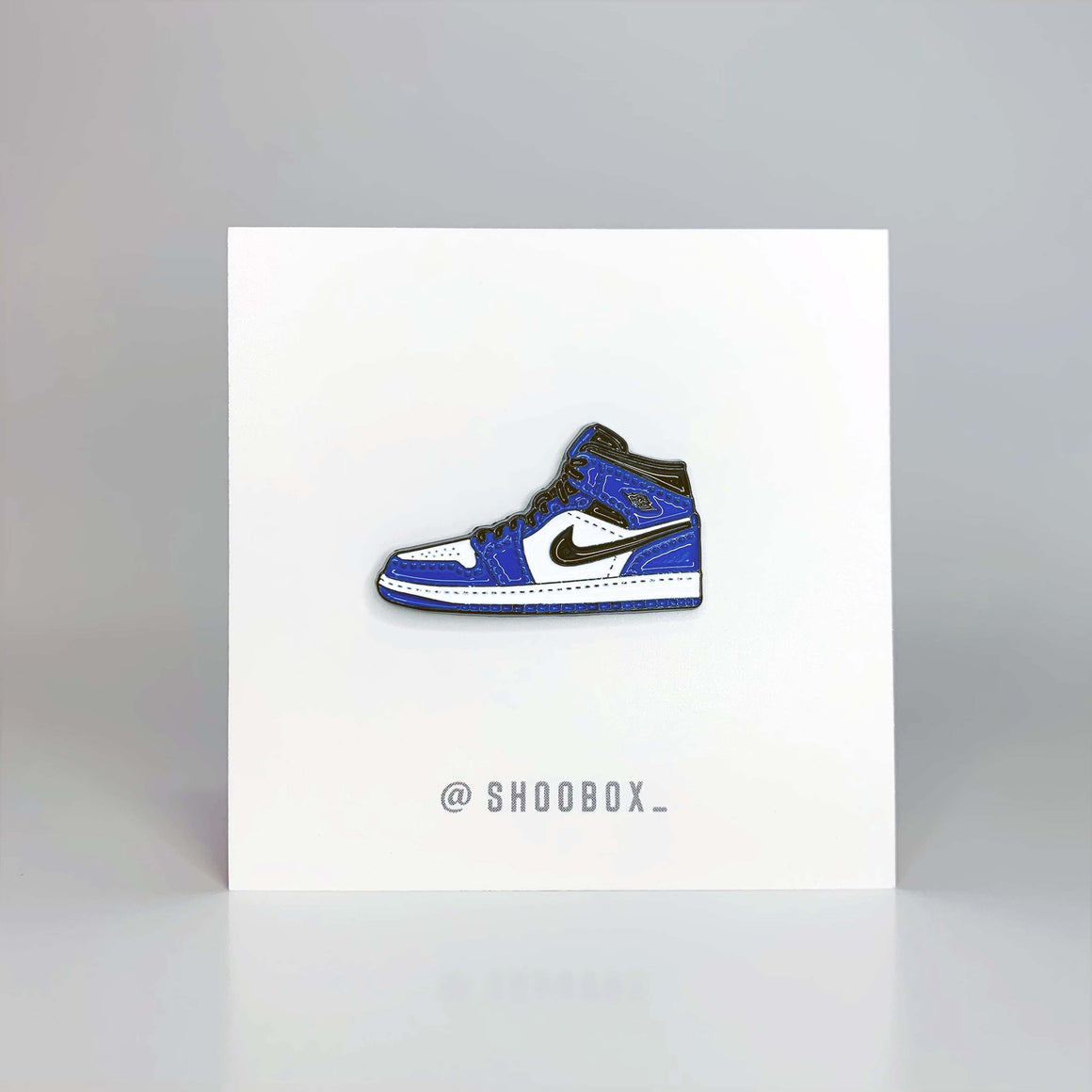 AJ1 Game Royal Soft Enamel Pin by Shoobox