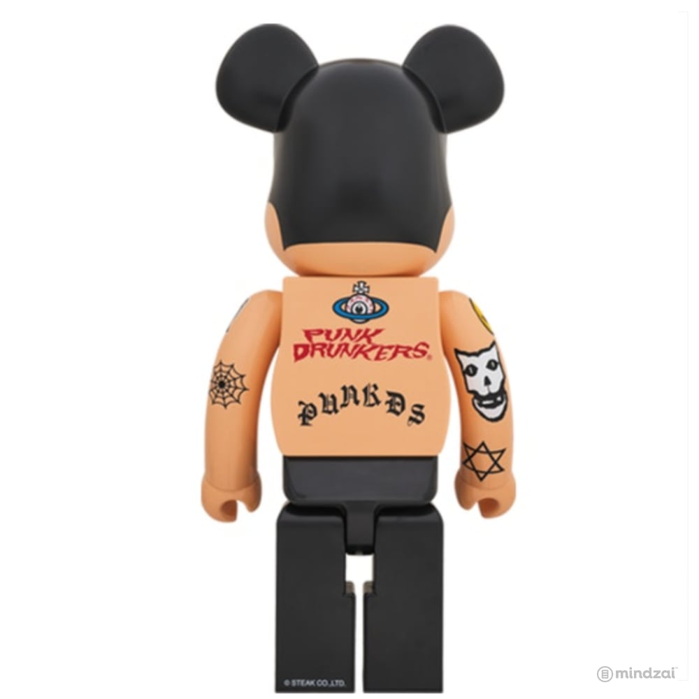 Aitsu 1000% Bearbrick by Punk Drunkers x Medicom Toy - Tattoo Version