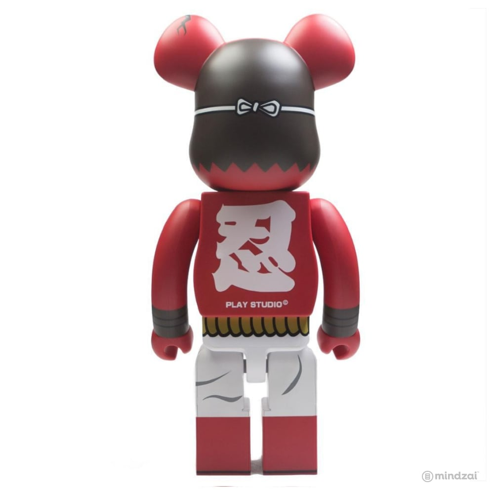 Akaoni Shinobu Red Demon 赤鬼忍 1000% Bearbrick by Medicom Toy