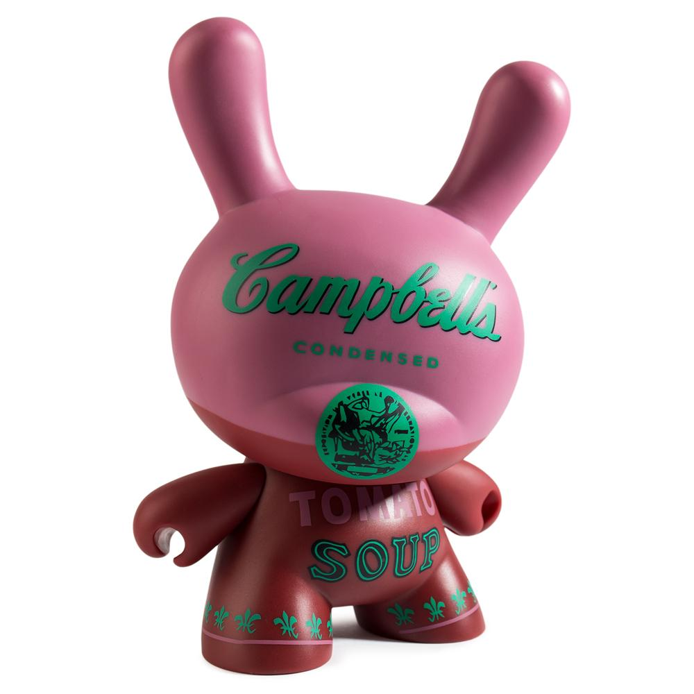 "Andy Warhol Campbells Soup 8"" Masterpiece Dunny by Kidrobot - Special Order."