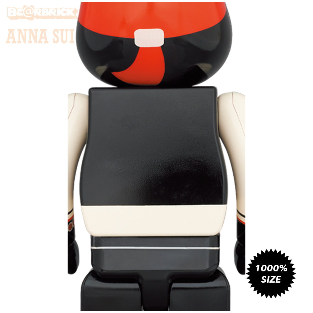 *Pre-order* Anna Sui Red and Beige 1000% Bearbrick by Medicom Toy