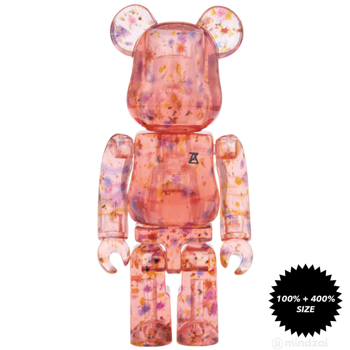 Flower Clear Red Edition 100% + 400% Bearbrick Set by Anrealage x Medicom Toy