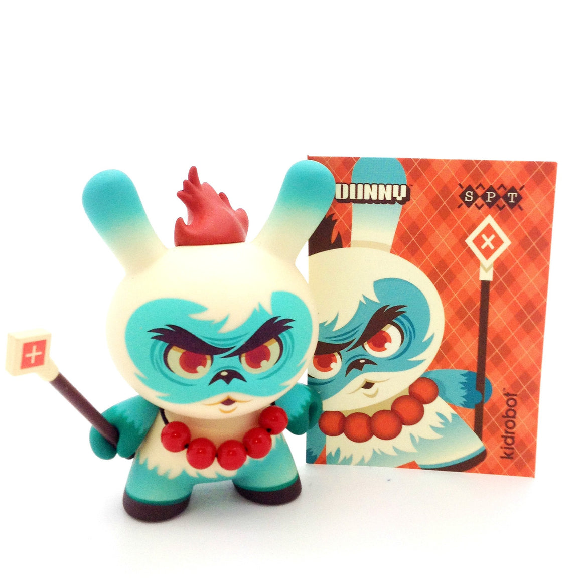 Side Show Dunny Series - Argyle Warrior (Scott Tolleson) - Mindzai  - 1