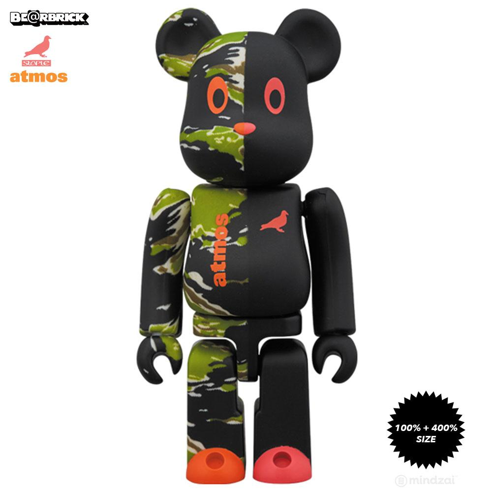 *Pre-order* Atmos × Staple #2 Camo 100% + 400% Bearbrick by Medicom Toy