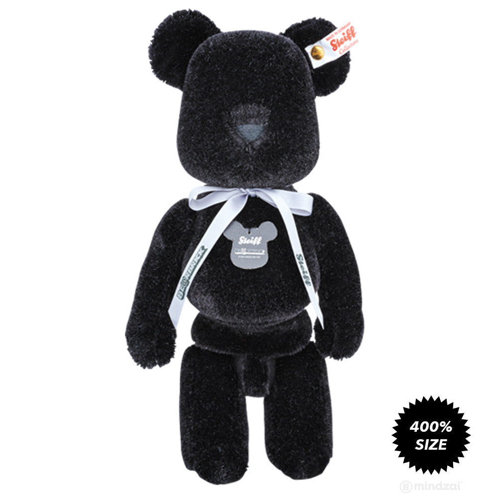 Bearbrick x Steiff Premium Teddy Bear Plush Toy - Black Edition - Mindzai