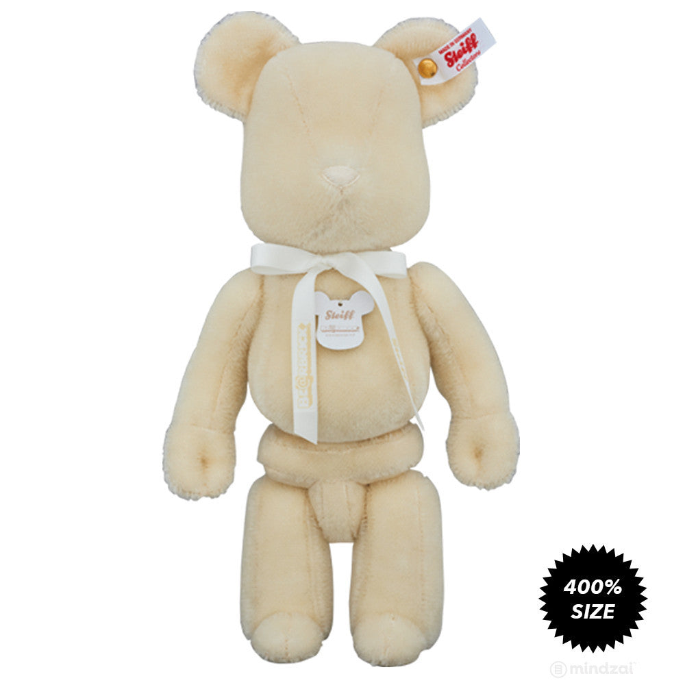 Bearbrick x Steiff Premium Teddy Bear Plush Toy - White Edition - Mindzai