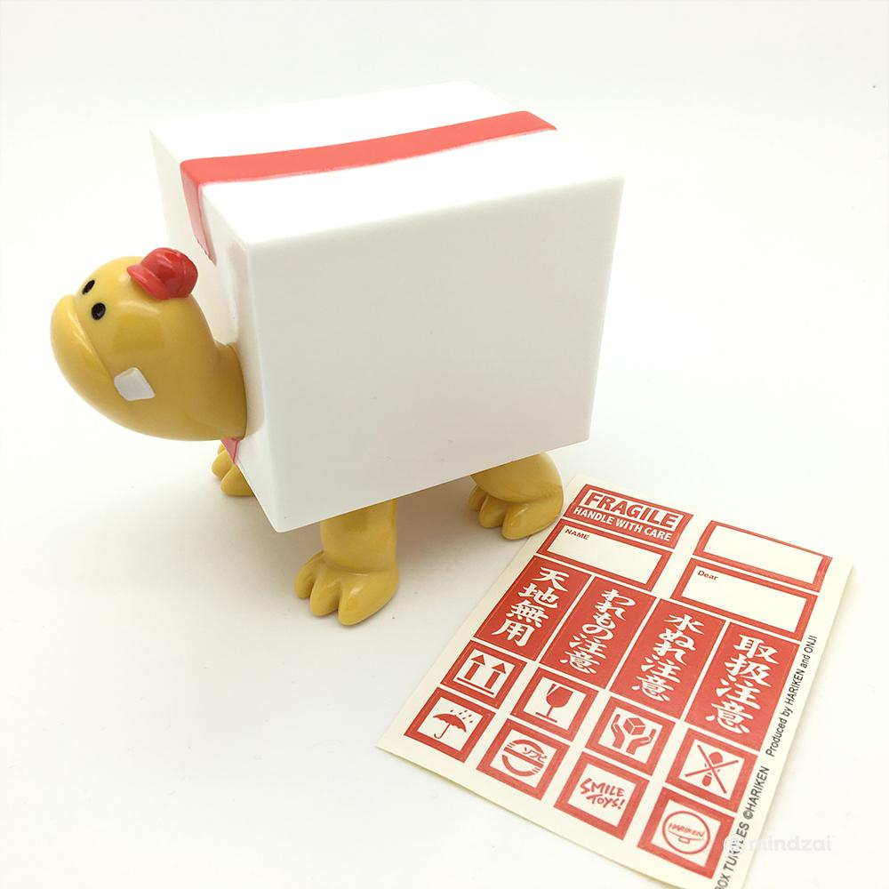 Box Turtles White x Yellow Sofubi Toy Figure by Hariken