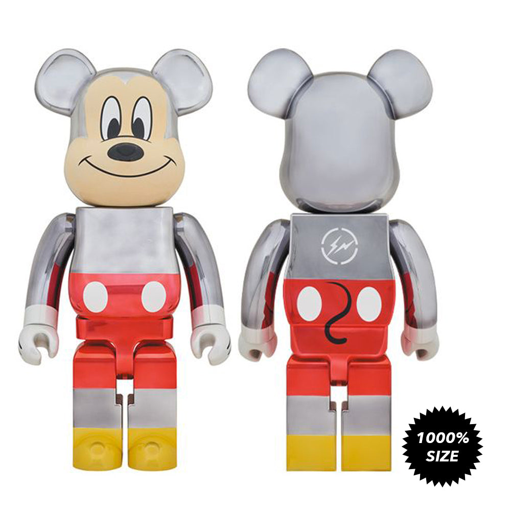 Fragment Design Mickey Mouse 1000% Bearbrick by Medicom Toy x Disney