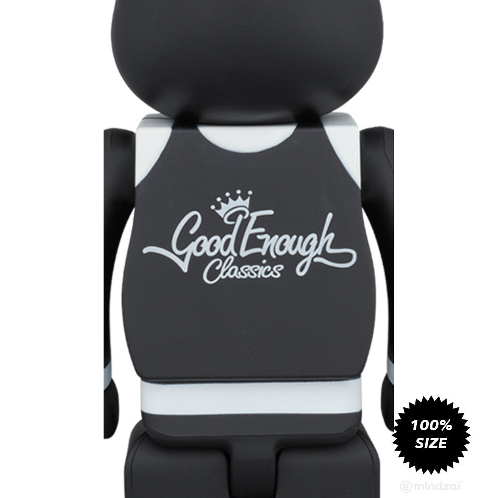 "Good Enough x Medicom Toy ""Classics"" Black 100% Bearbrick"