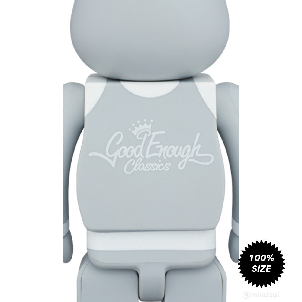 "Good Enough x Medicom Toy ""Classics"" Grey 100% Bearbrick"