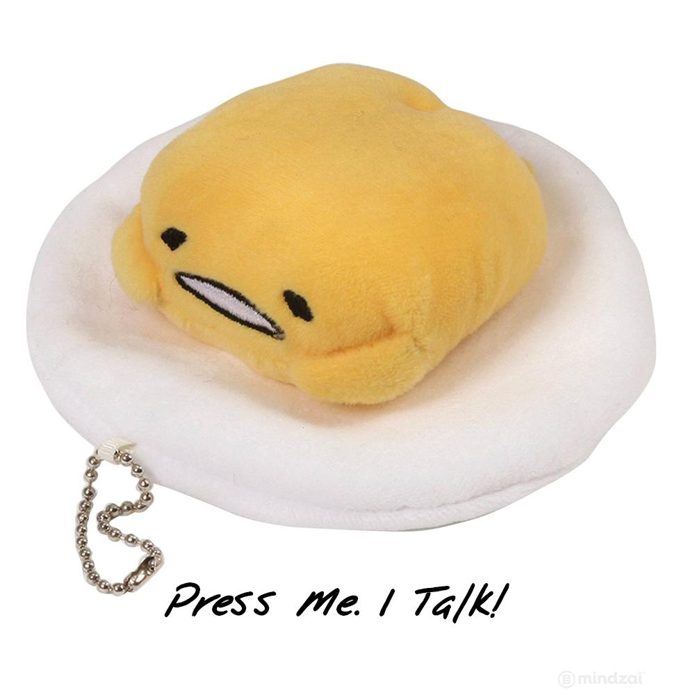 Gudetama Talking Keychain Plush by Gund