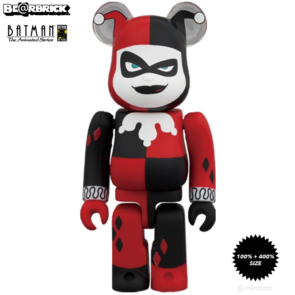 *Pre-order* Harley Quinn Batman Animated 100% + 400% Bearbrick Set by Medicom Toy