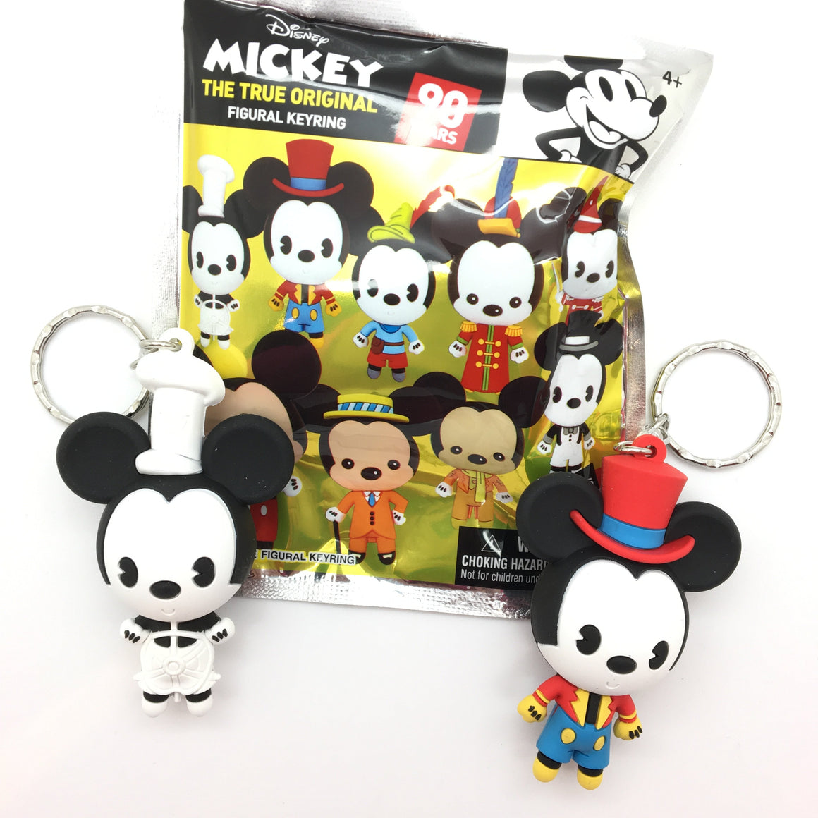 Disney Mickey Through The Years Figural Keychains by Monogram
