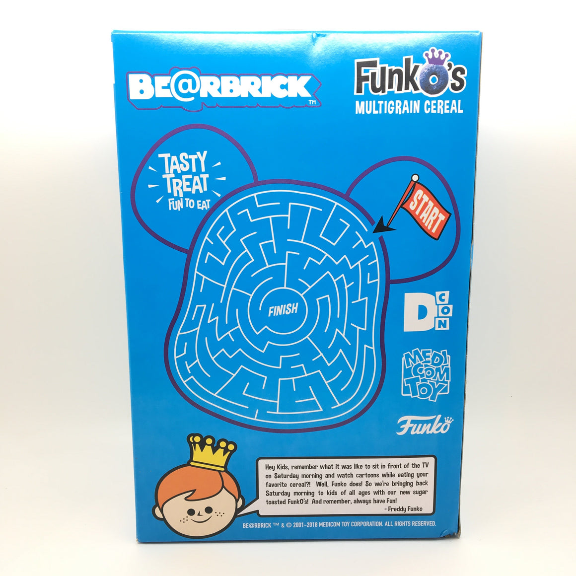 Bearbrick Funko's Cereal with 100% Bearbrick Figure Designer Con ( DCON ) Exclusive - Blue Box