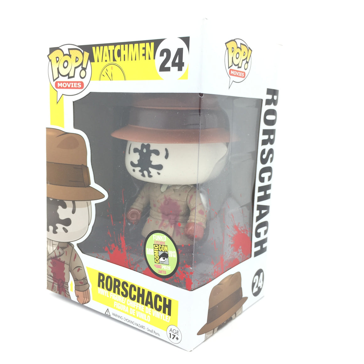Bloody Rorschach Watchmen POP Vinyl Figure SDCC 2013 Exclusive Limited Edition by Funko