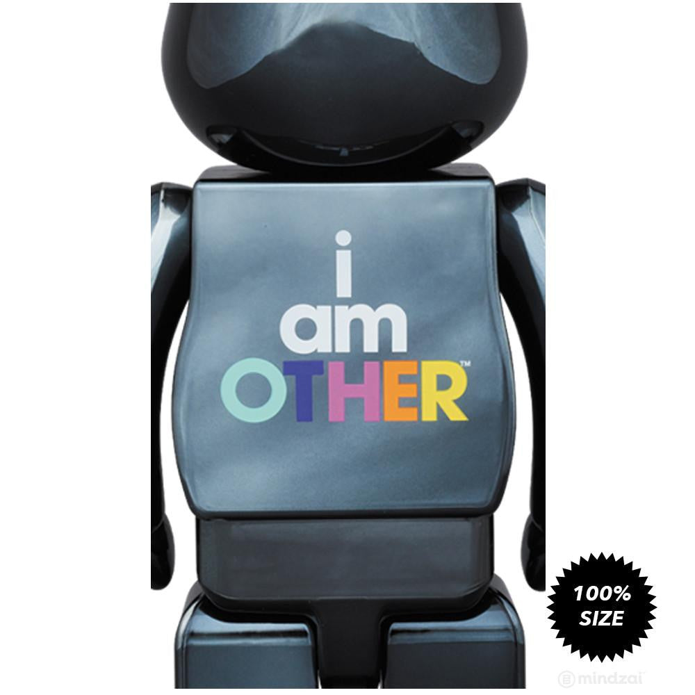 I Am Other BLACK 100% Bearbrick by Pharrell Williams x Medicom Toy