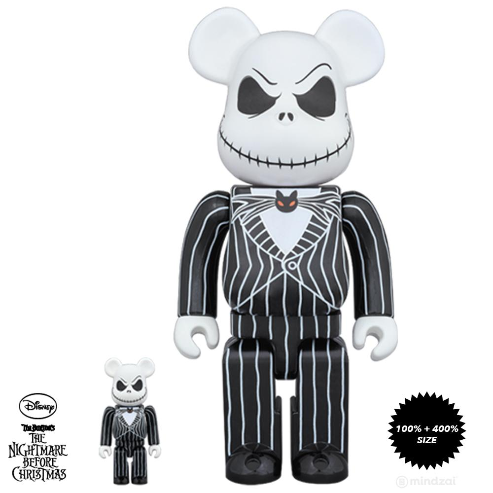 Jack Skellington Nightmare Before Christmas 100% and 400% Bearbrick ...