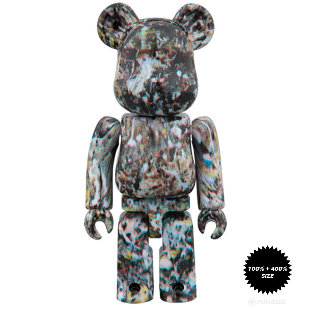 Jackson Pollock Version 2.0 100% and 400% Bearbrick Set by Medicom Toy - Pre-order