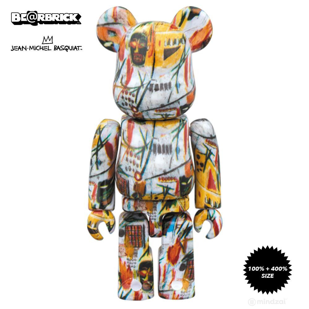 Jean-Michel Basquiat 100% and 400% Bearbrick Set - Pre-order