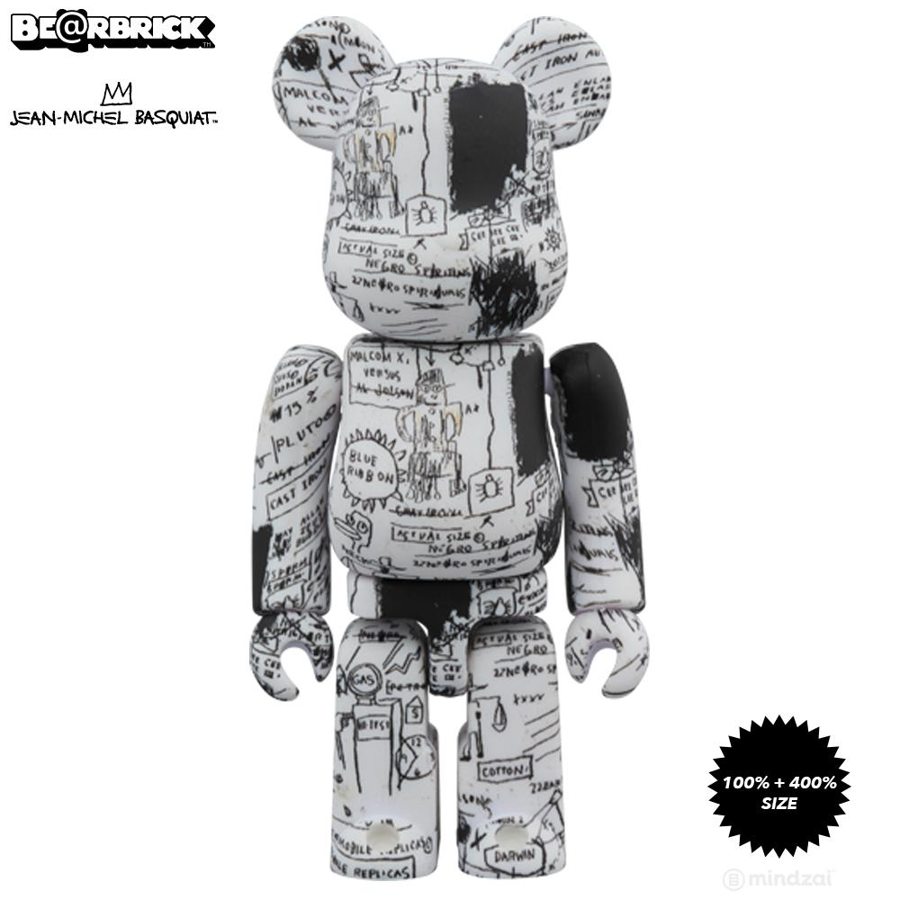 Jean-Michel Basquiat #3 100% + 400% Bearbrick Set by Medicom Toy - Pre-order