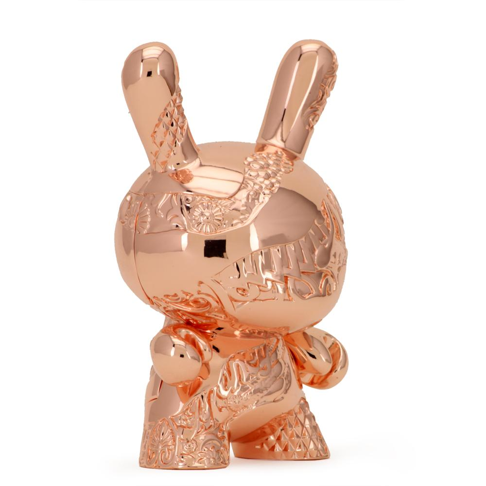 New Money Rose Gold Metal 5-Inch Dunny by Tristan Eaton x Kidrobot