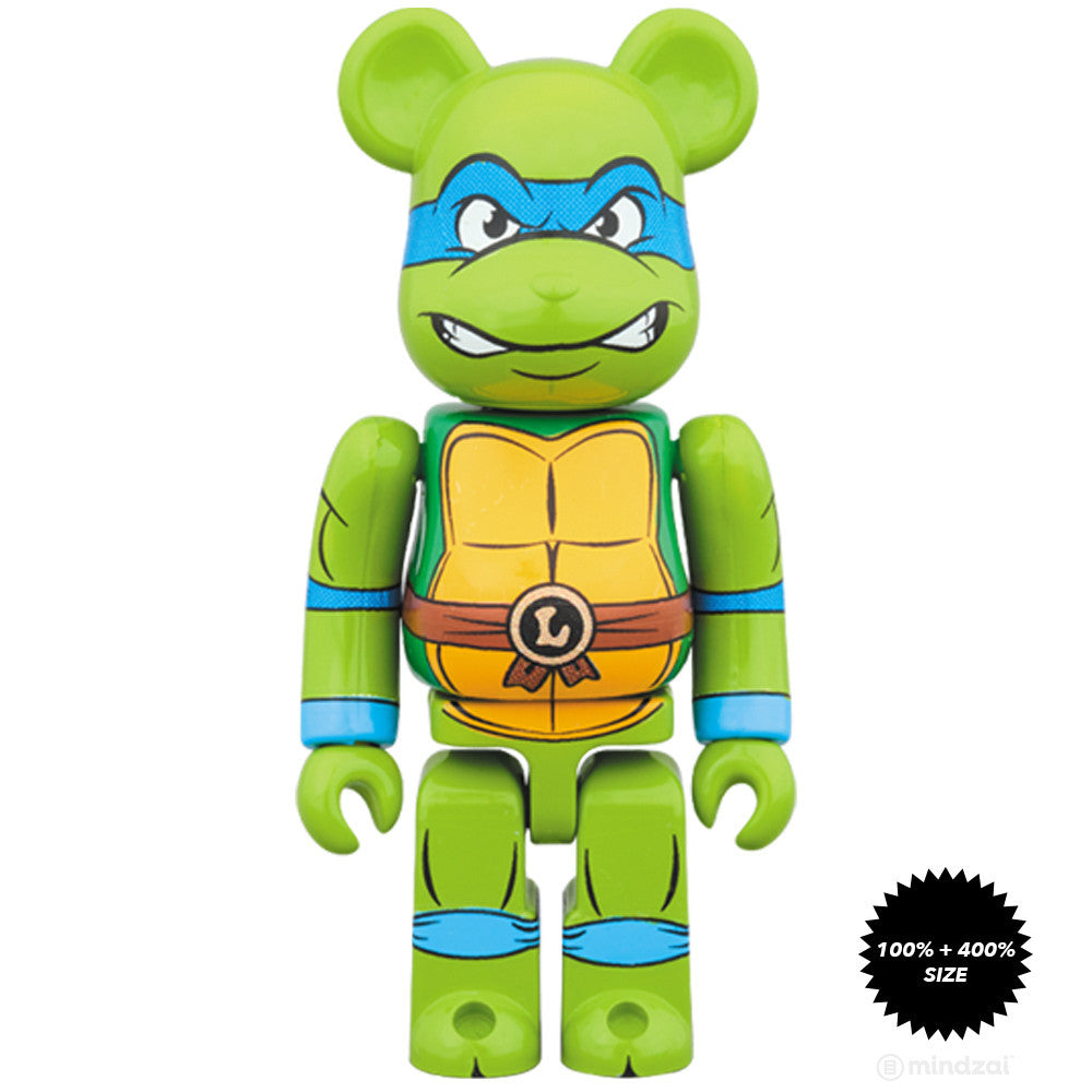 Leonardo TMNT 100% and 400% Bearbrick Set
