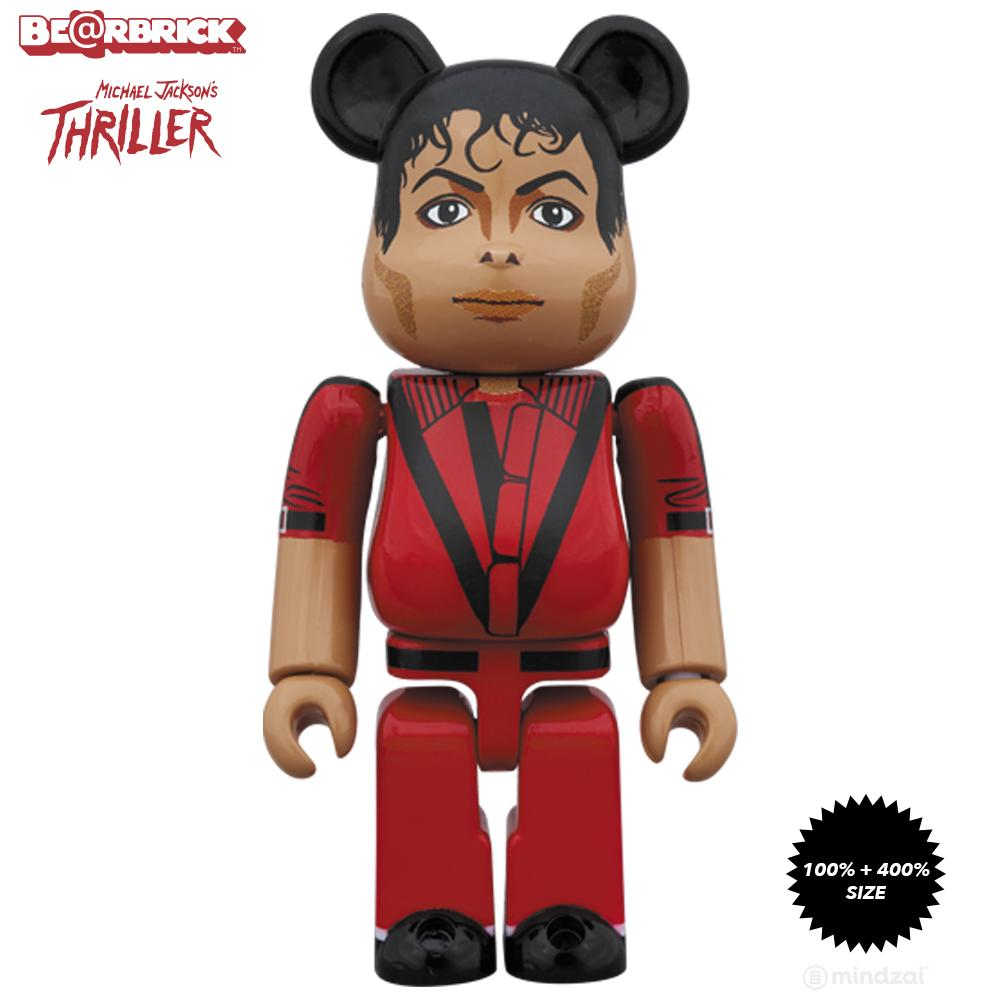 Michael Jackson Red Jacket 100% + 400% Bearbrick Set by Medicom Toy - Pre-order