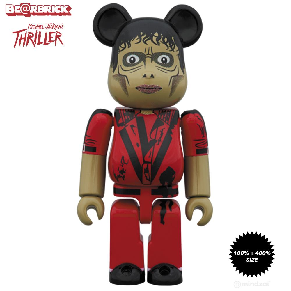Michael Jackson Zombie 100% + 400% Bearbrick Set by Medicom Toy - Pre-order