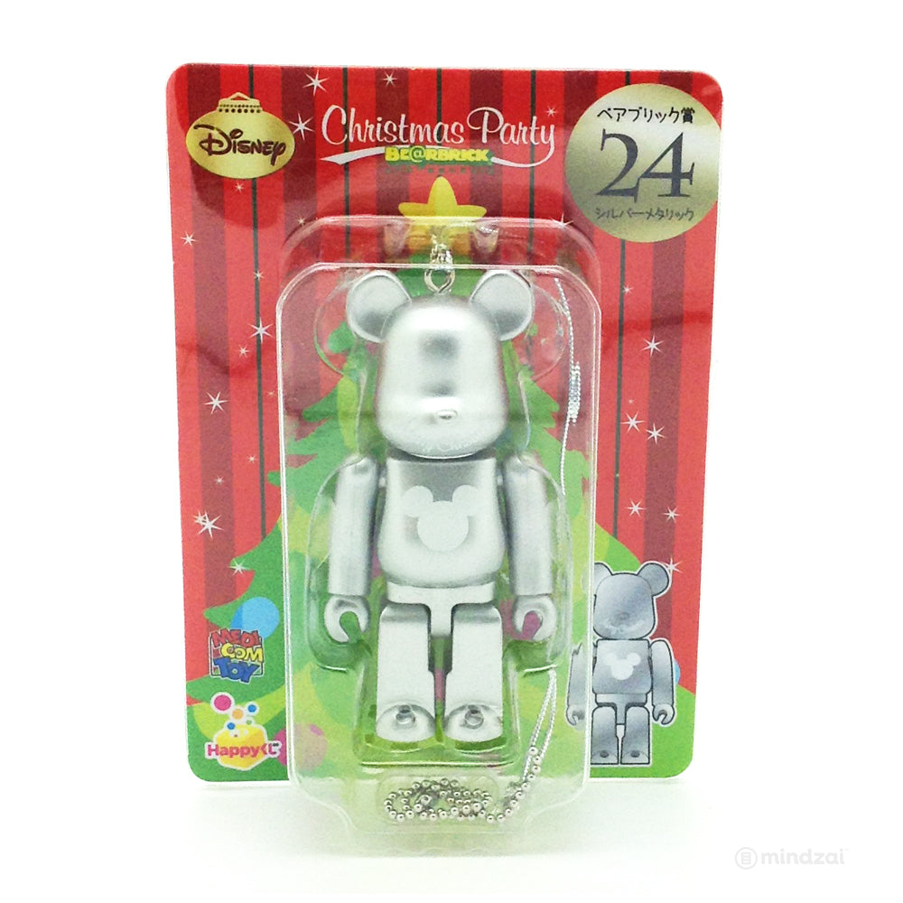 Disney Bearbrick Unbreakable - Happy Kuji # 24 - Mickey Mouse Logo Silver Metallic Version 100% Size