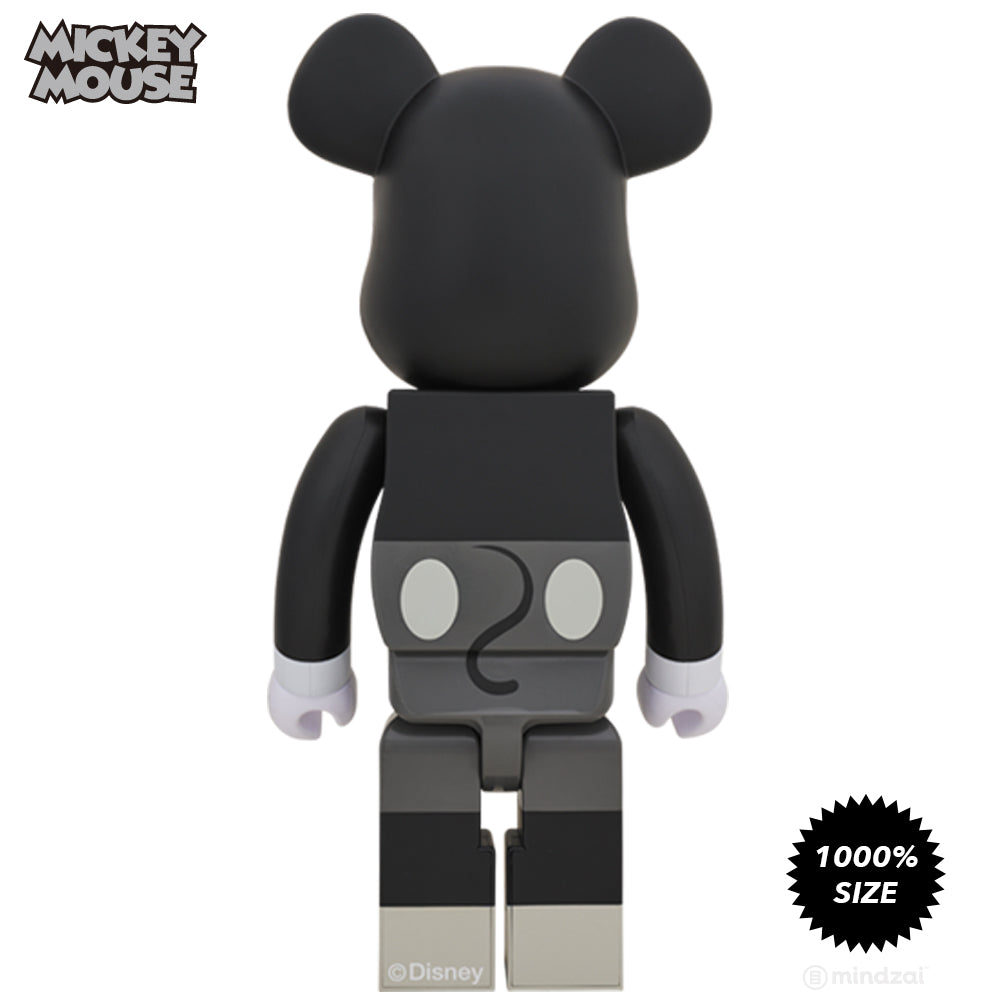 Disney Black & White Mickey Mouse 1000% Bearbrick by Medicom Toy - Pre-order