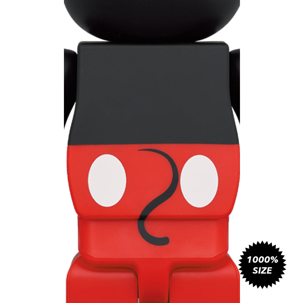 *Pre-order* Mickey Mouse (Red and White Ver.) 1000% Bearbrick by Medicom Toy