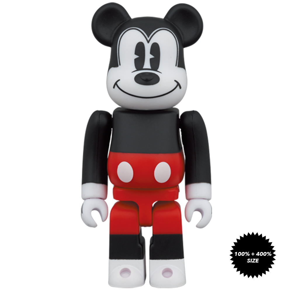 *Pre-order* Mickey Mouse (Red and White Ver.) 100% + 400% Bearbrick Set by Medicom Toy