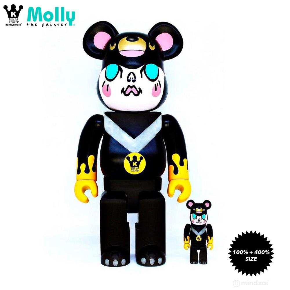 Molly Honey Bear 100% + 400% Bearbrick Set by Kennyswork x CG+ x Medicom Toy