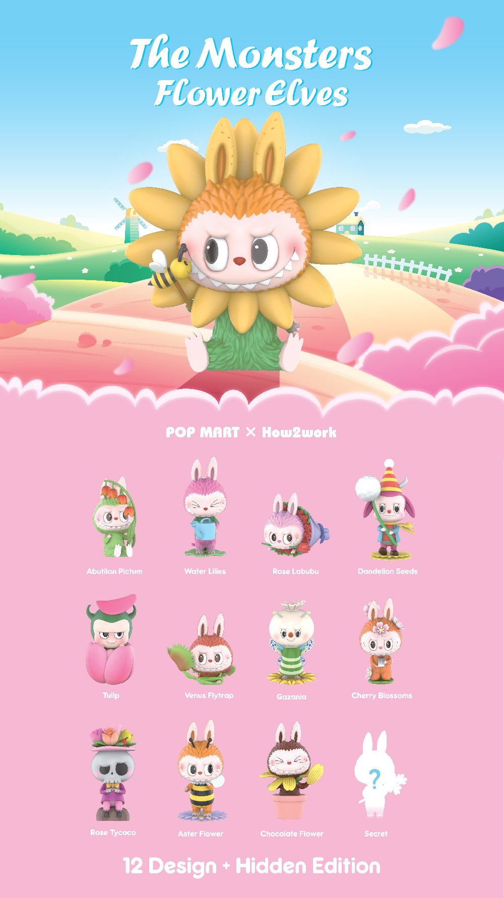 *Pre-order* The Monsters Flower Elves Blind Box Series by Kasing Lung x POP MART