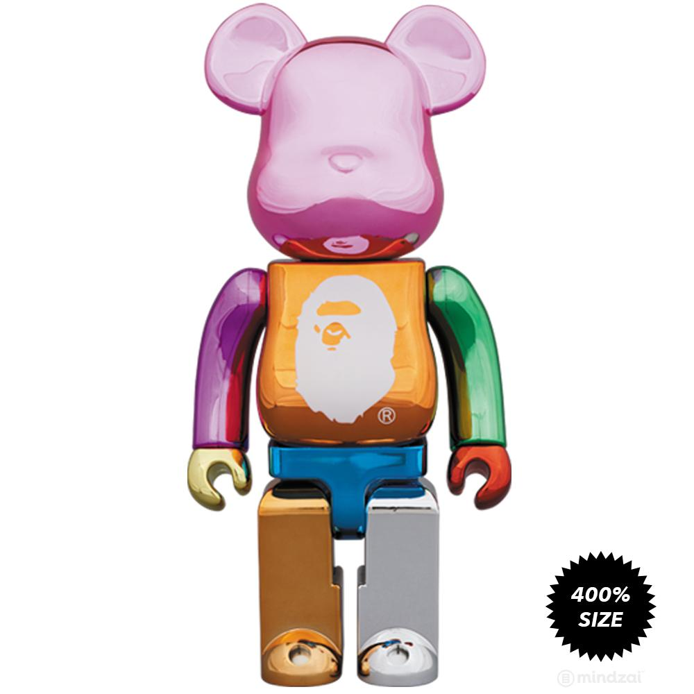 92d53809 Bape Multicolor Foil XXV 25th Anniversary 400% Bearbrick by Bape x Medicom  Toy
