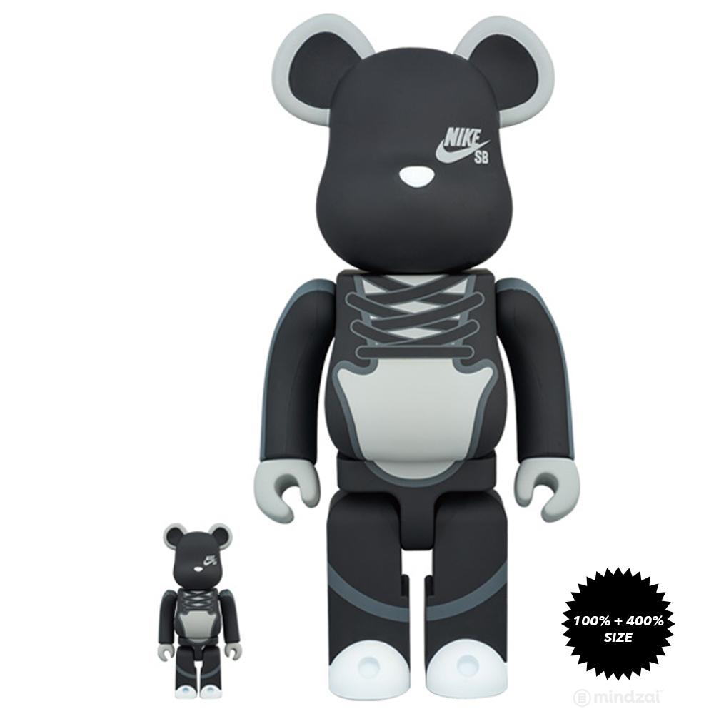 Nike SB 100% and 400% Bearbrick Set by Medicom Toy x Nike SB - Pre-order